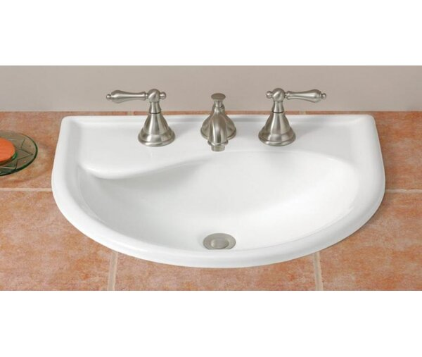 Calypso Vitreous China U-Shaped Drop-In Bathroom Sink with Overflow by Cheviot Products