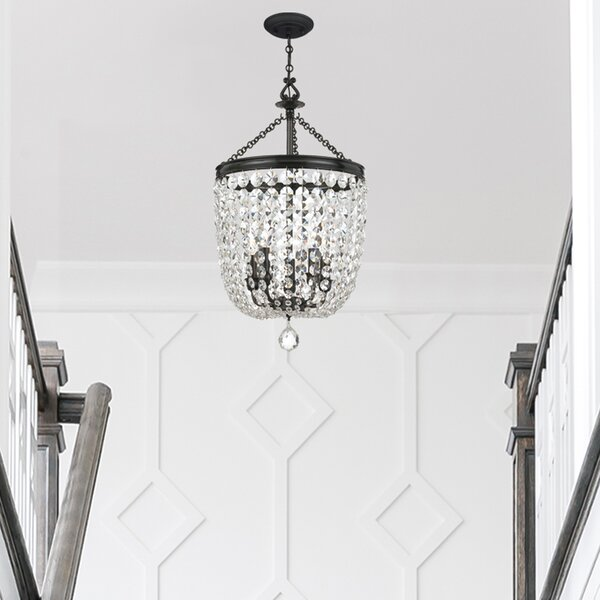 Sargent 5 - Light Unique/Statement Tiered Chandelier With Wrought Iron Accents by House of Hampton House of Hampton