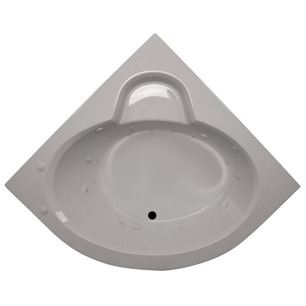 60 x 60 Round Front Corner Salon Spa Soaking Tub by American Acrylic