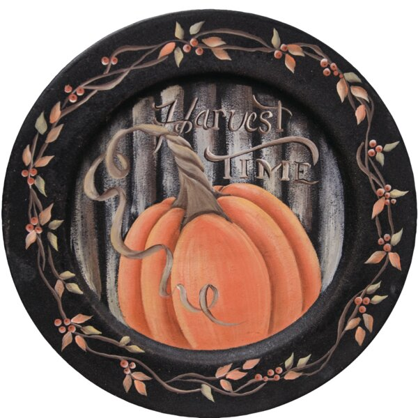 Pinto Harvest Time Decorative Plate by The Holiday Aisle