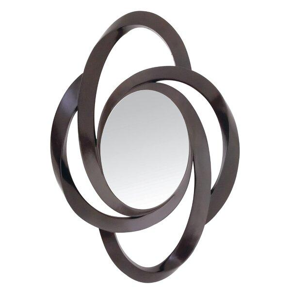 Trendy Dark Brown Contemporary Curvy Hanging Wall Mirror by Majestic Mirror