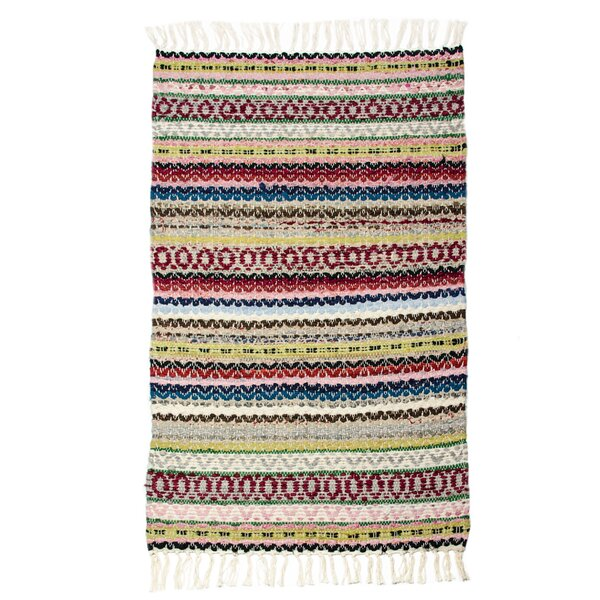 East End Hand-Woven Multi Almond Area Rug by CLM