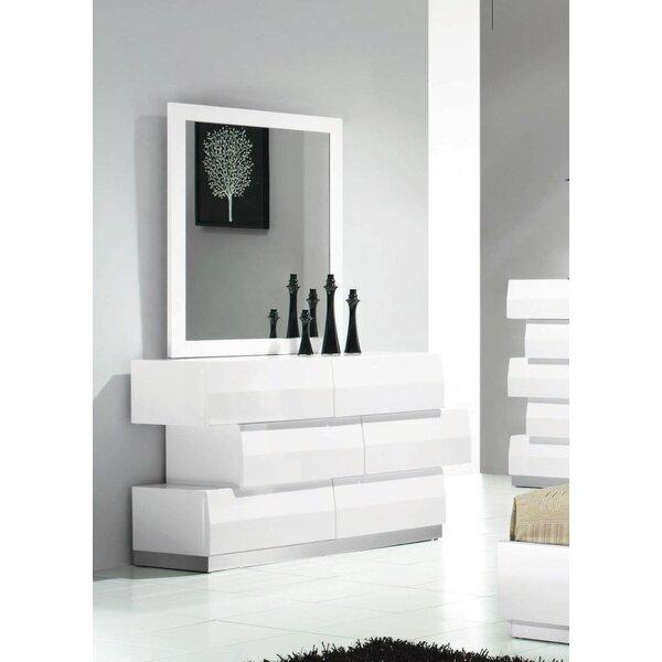 Connolly 3 Drawer Dresser with Mirror by Orren Ellis