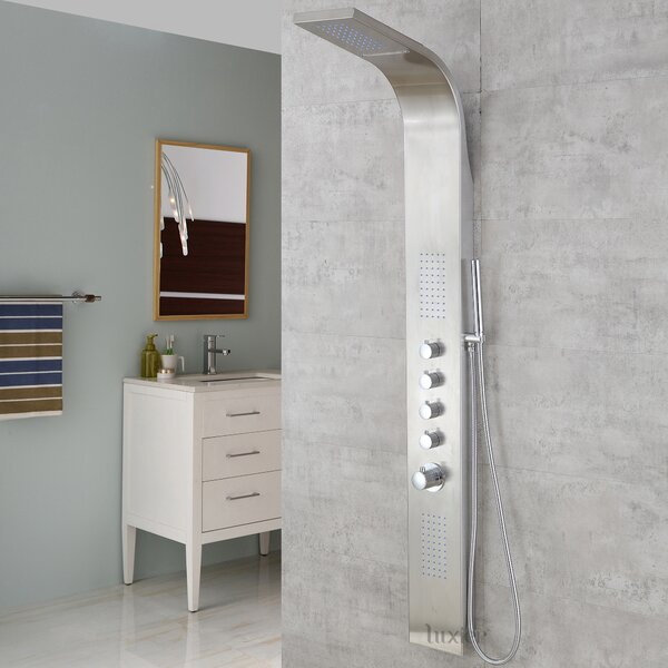 Diverter/Thermostatic Fixed Shower Head Shower Panel by Luxier