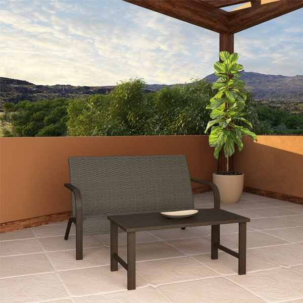 Woodstock 2 Piece Rattan Sofa Seating Group by Zipcode Design