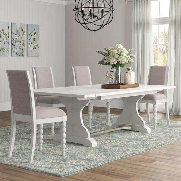 #2 Saguenay 5 Piece Extendable Dining Set By Lark Manor Cheap