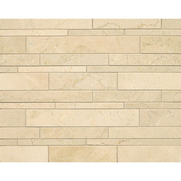 Random Linear Marble Polished Mosaic Tile in Crema Marfil Select by Grayson Martin
