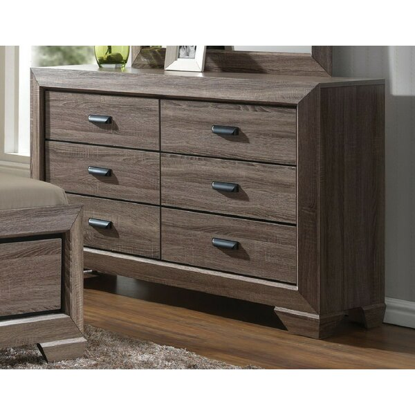 Gianna 6 Drawer Double Dresser by Foundry Select