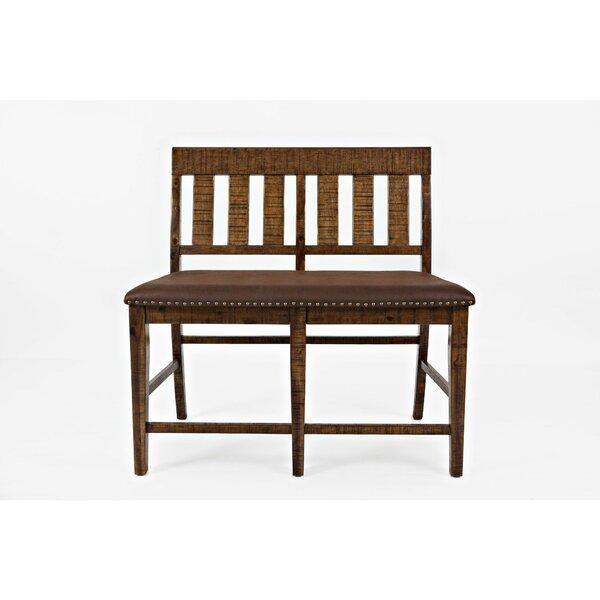 Winn Upholstered Wood Bench by Loon Peak