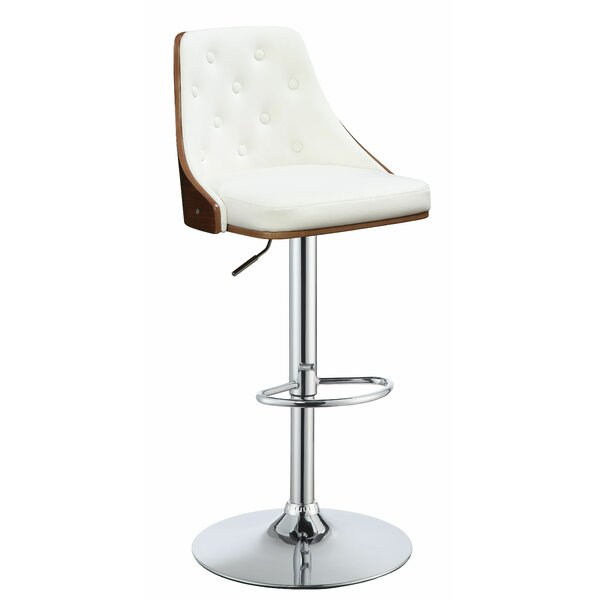 Bromyard Adjustable Height Bar Swivel Stool by Corrigan Studio
