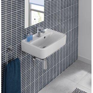 Renova Ceramic 18 Wall Mount Bathroom Sink with Overflow Bissonnet