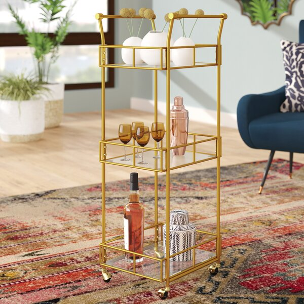 Armando 3 Tier Square Bar Cart by Mistana Mistana