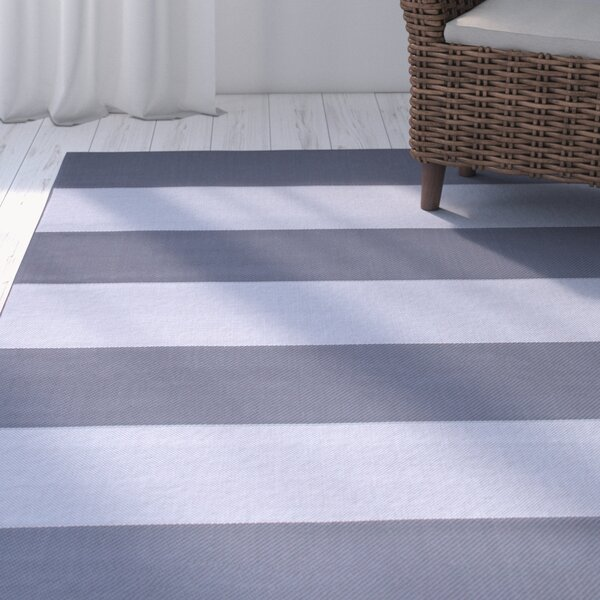 Kirree Gray Indoor/Outdoor All Weather Rug by Breakwater Bay