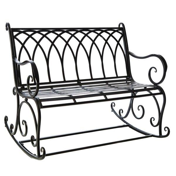 Black Rocking Garden Bench by Fleur De Lis Living
