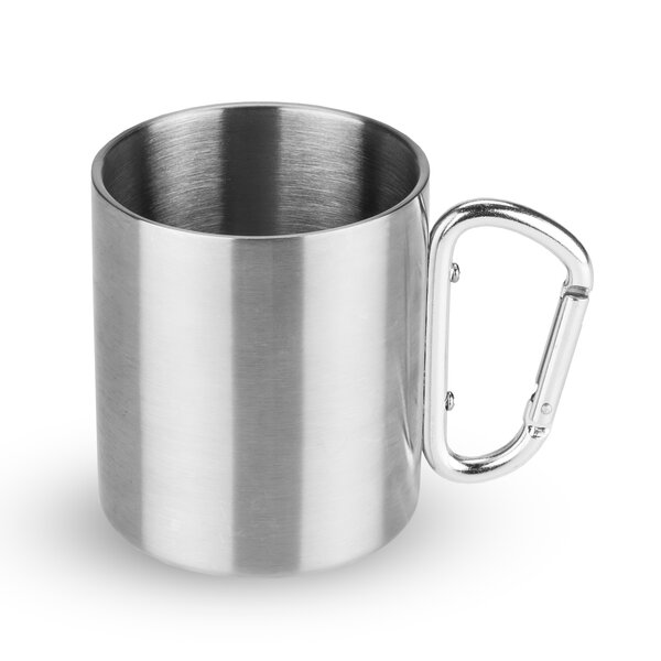 Carabiner Stainless Steel Double Walled Travel Mug by Foster & Rye