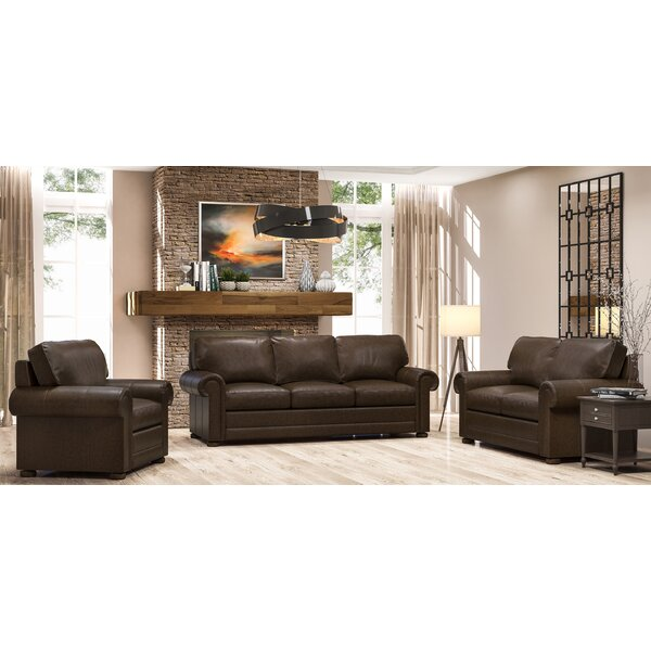 Oslo 3 Piece Leather Living Room Set by Westland and Birch