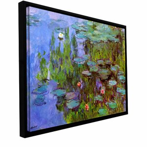 Sea Roses by Claude Monet Framed Painting Print on Wrapped Canvas by ArtWall