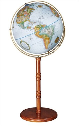 Edinburgh II 16 Floor/Desktop World Globe by Replogle Globes