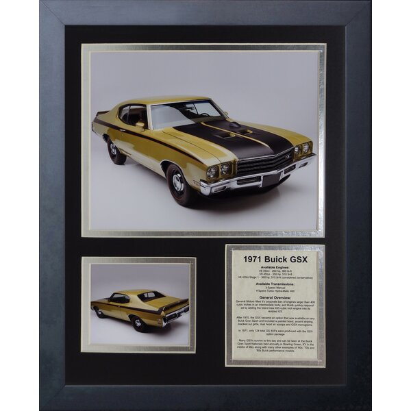 1971 Buick GSX Framed Memorabilia by Legends Never Die