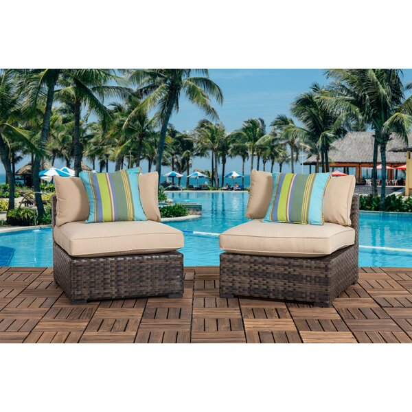 Harvey Outdoor Patio Chair with Cushions (Set of 2) by Bayou Breeze