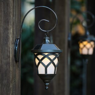 Reviews Solar 1-Light Outdoor Wall Lantern (Set of 2) By Winsome House