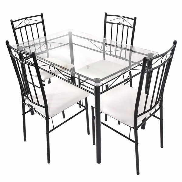 ShipstStour 5 Piece Dining Set by Fleur De Lis Living