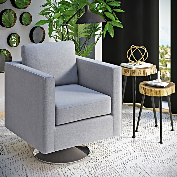 Elsmere Swivel Arm Chair by Wrought Studio