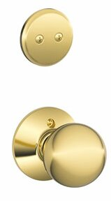 Interior Non-Turning Orbit Knob and Interior Inactive Deadbolt Thumbturn by Schlage