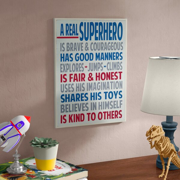 Stella A Real Superhero Wall Plaque by Viv + Rae