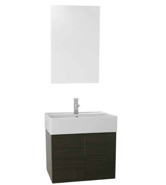 Smile 23 Single Bathroom Vanity Set with Mirror by Nameeks Vanities