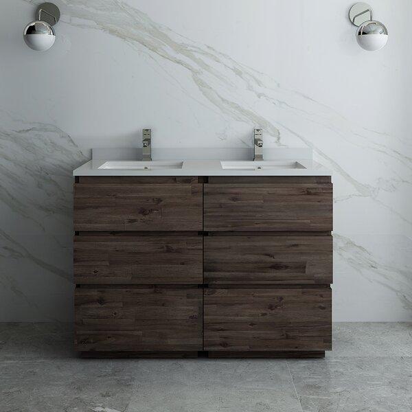 Formosa Floor Standing 46 Double Bathroom Vanity Base Only
