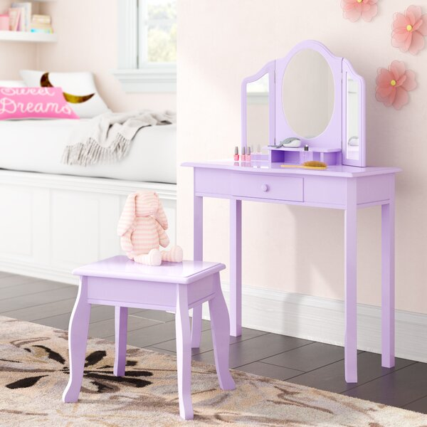 Rocky Vanity Set with Mirror by Viv + Rae
