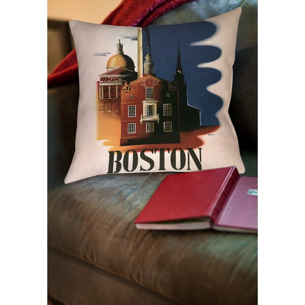 Boston Architecture Printed Throw Pillow by Manual Woodworkers & Weavers