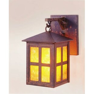 Affordable Old Faithful Small Hanging 1-Light Outdoor Wall Lantern By Steel Partners