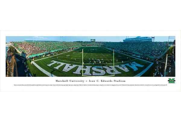 NCAA Marshall University - Football - End Zone by James Blakeway Photographic Print by Blakeway Worldwide Panoramas, Inc