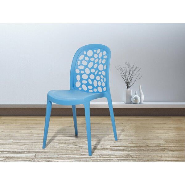 Clitheroe Stacking Patio Dining Chair by Wrought Studio