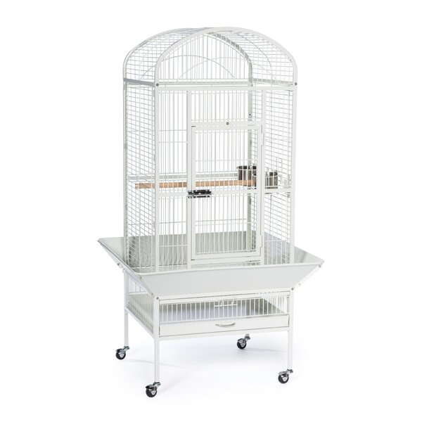 Medium Dome Top Bird Cage with Casters by Prevue H