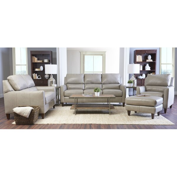 Broad Leather Configurable Living Room Set by Latitude Run