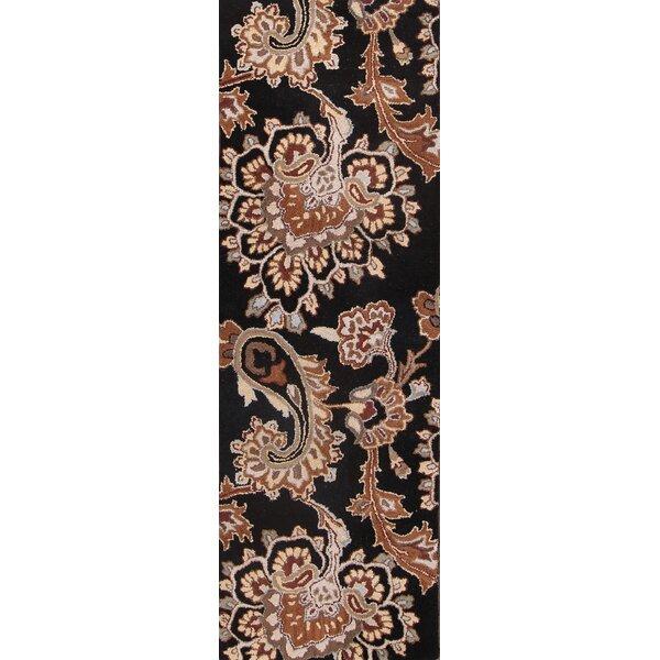 Aliyah Oushak Agra Oriental Hand-Tufted Wool Brown/Black Area Rug