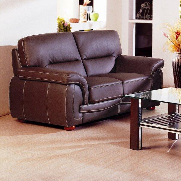 Leather Loveseat by Hokku Designs