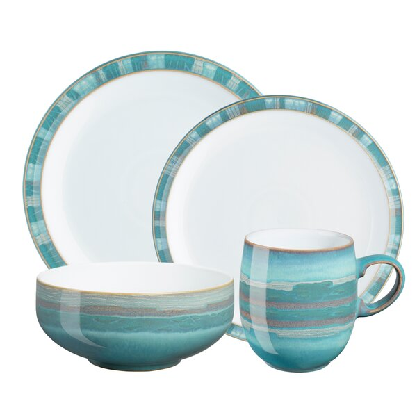Azure 4 Piece Place Setting, Service for 1 by Denby