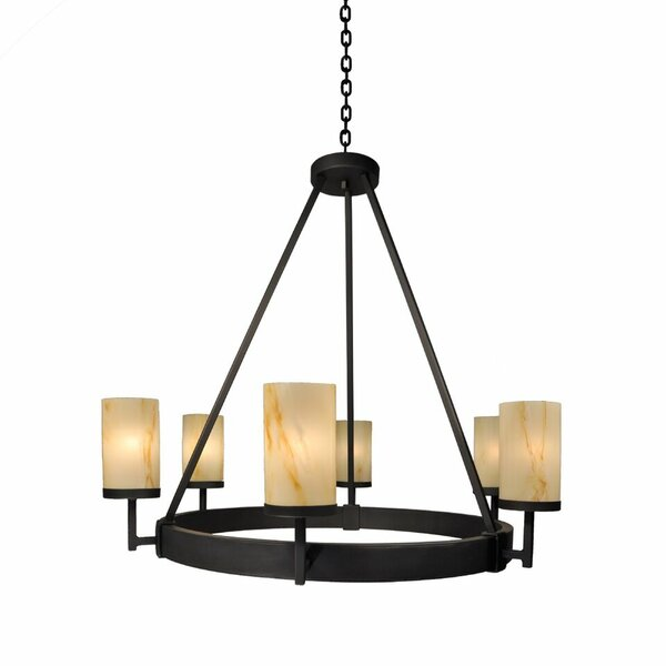 Adcock 6-Light Unique / Statement Wagon Wheel Chandelier by Millwood Pines Millwood Pines