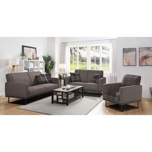 Kalise 3 Piece Configurable Living Room Set by Latitude Run®