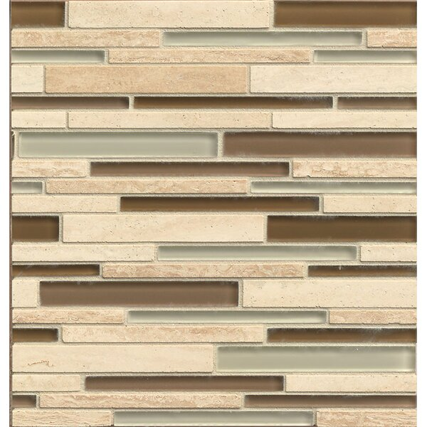 Interlude Random Sized Glass and Stone Mosaic Tile in Treble by Bedrosians