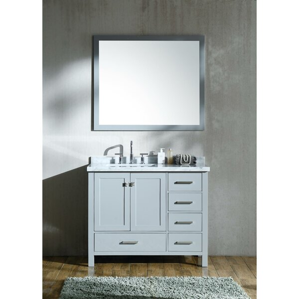 Marine 42 Single Bathroom Vanity Set with Mirror by Andover Mills