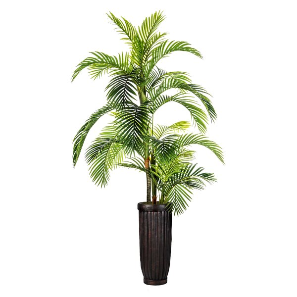 Fiberstone Floor Palm Tree in Planter by Bloomsbury Market