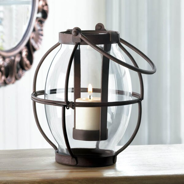 Heirloom Iron and Glass Lantern by Zingz & Thingz