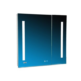 Inexpensive Donnelly 30 x 36 Recessed or Surface Mount Frameless Medicine Cabinet with LED Lighting ByOrren Ellis