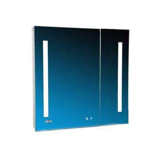 Donnelly 30 x 36 Recessed or Surface Mount Frameless Medicine Cabinet with LED Lighting ByOrren Ellis