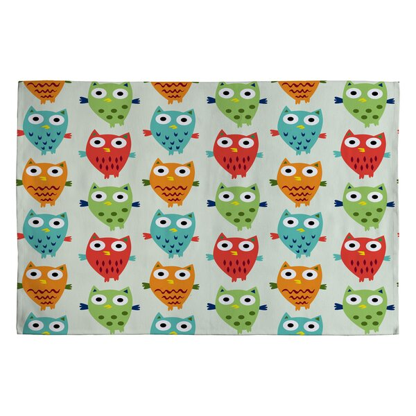 Andi Bird Owl Fun Kids Rug by Deny Designs
